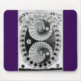 Vintager Astronomie Kircher Lunation Mauspads