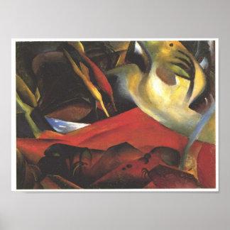 Vintager August Macke der Tempest Poster
