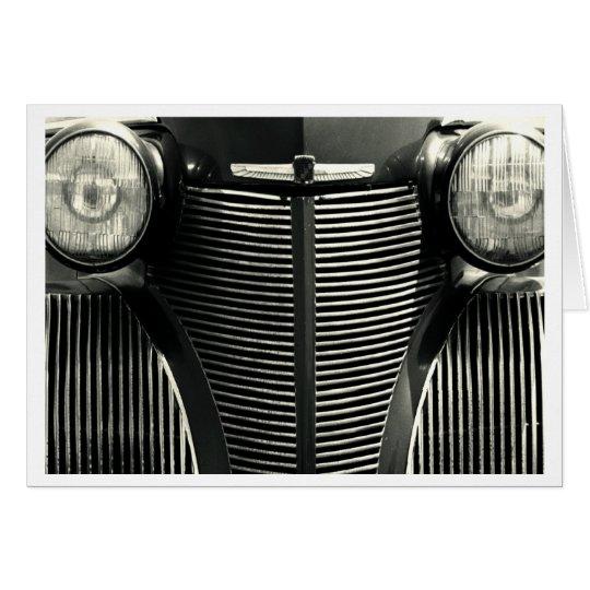 Vintager Auto-Grill Grußkarte