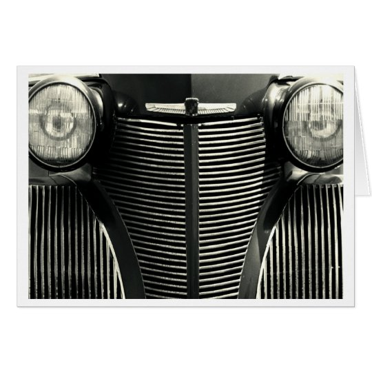 Vintager Auto-Grill Karte