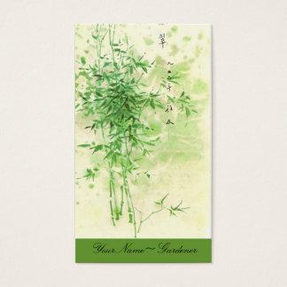 Vintager Bambus Visitenkarte