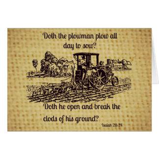 Vintager Bauers-Gruß-Karten-Bibel-Vers Grußkarte