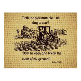 Vintager Bauers-Postkarten-Bibel-Vers Postkarte