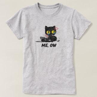 Vintager beunruhigter niedlicher trauriger T-Shirt