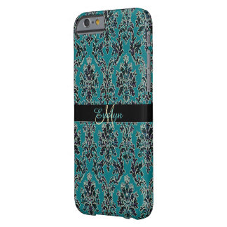 Vintager bezaubernder Glittery Damast-Druck iPhone Barely There iPhone 6 Hülle