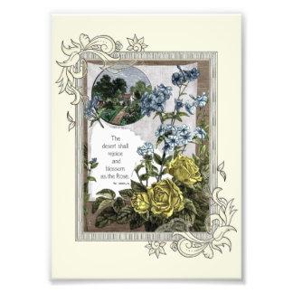 Vintager BibelScripture mit Rosen Fotodruck