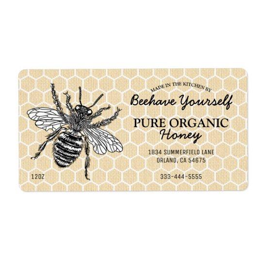 Vintager Bienenwaben-Honigbienen-Honig