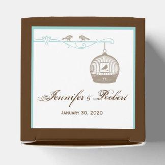 Vintager Birdcage in Brown- und Aqua-Hochzeit Geschenkschachtel