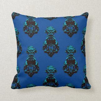 Vintager blauer Hintergrund Kissen