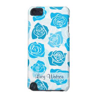 Vintager blauer Rosenipod-Touch-Kasten iPod Touch 5G Hülle