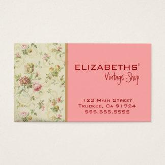 Vintager Blumen-Pfirsich Visitenkarten