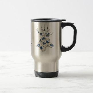 Vintager Blumenrotwild-Kopf Reisebecher