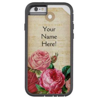 Vintager Blumenumbau-Telefon-Kasten Tough Xtreme iPhone 6 Hülle
