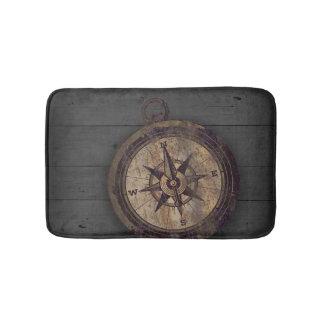 Vintager Brown-Kompass Badematte
