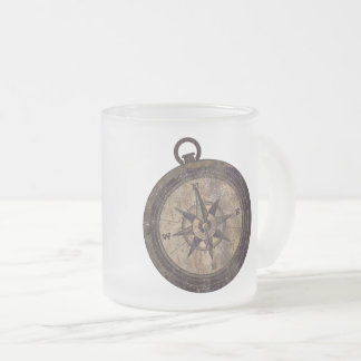 Vintager Brown-Kompass Mattglastasse