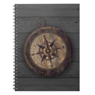 Vintager Brown-Kompass Notizblock