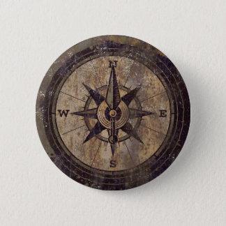 Vintager Brown-Kompass Runder Button 5,1 Cm