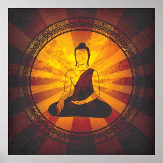 Vintager Buddha Poster