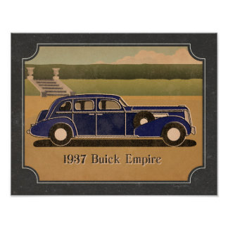 Vintager Buick 1937 Poster
