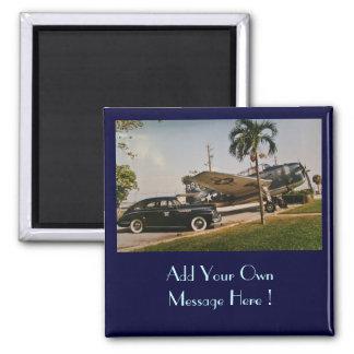 Vintager Buick u. Rächer Quadratischer Magnet