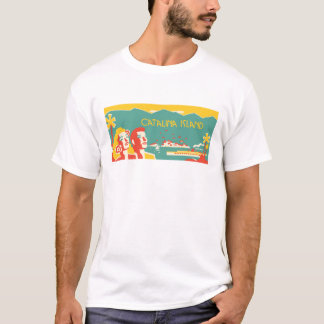 Vintager Catalina-Insel-Reise-Plakat-T - Shirt