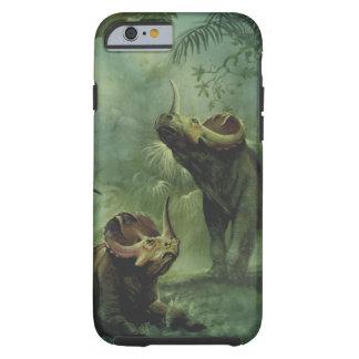 Vintager Centrosaurus-Dinosaurier im Dschungel Tough iPhone 6 Hülle