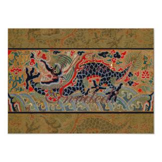Vintager chinesischer Drache 11,4 X 15,9 Cm Einladungskarte