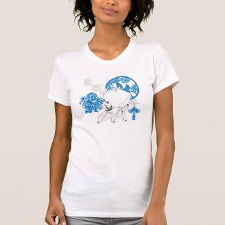 Vintager chinesischer Muster-Entwurf T-Shirt