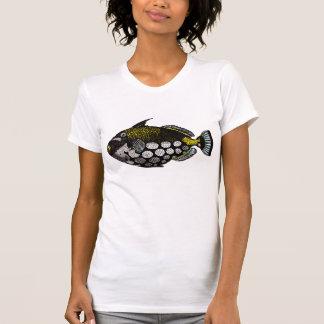 Vintager Clowntriggerfish-Kunst-Druck T-Shirt