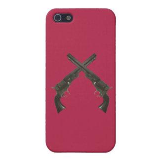 Vintager Colt-Revolver-Gewehr-Apple iPhone Fall 18 iPhone 5 Hüllen