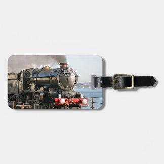 Vintager Dampf-Motor König-Edward 1 mit Monogramm Kofferanhänger