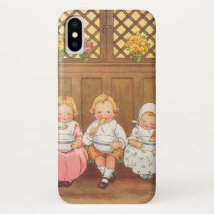 Vintager das Kinderzimmer-Reim der Pease iPhone X Hülle