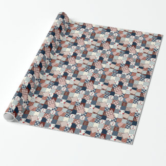 Vintager die Steppdecken-Muster-jeder Anlass der Geschenkpapierrolle