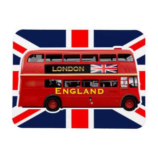 Vintager doppelter Decker-Bus Londons Magnet