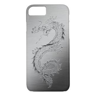 Vintager Drache gebürsteter Metallblick iPhone 8/7 Hülle