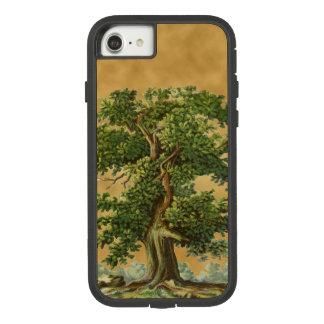 Vintager Eichen-Baum auf Imitat-Pergament iPhone Case-Mate Tough Extreme iPhone 8/7 Hülle