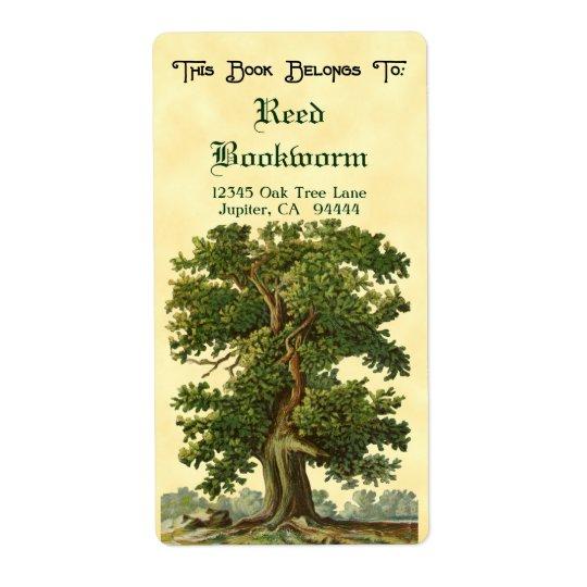 Vintager Eichen-Baum-kundenspezifischer Versandetiketten