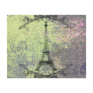 Vintager Eiffel-Turm Leinwanddruck
