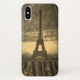 Vintager Eiffel-Turm Paris iPhone X Hülle