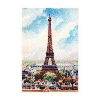 Vintager Eiffel-Turmparis-Leinwanddruck Leinwanddruck