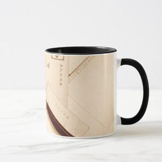 Vintager Eintagsfliegewickelrock Tasse