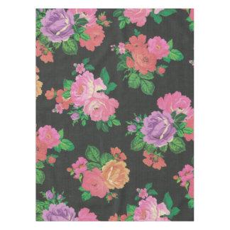 Vintager eleganter Blumen Cheetah Tabellen-Stoff Tischdecke