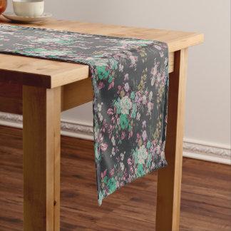 Vintager eleganter Blumen Tabellen-Läufer Kurzer Tischläufer