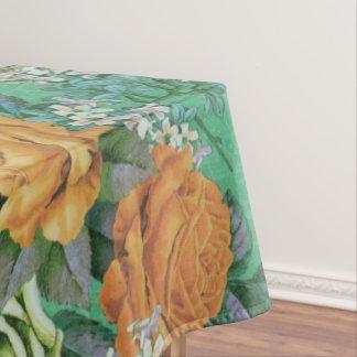 Vintager eleganter Blumen Tabellen-Stoff Tischdecke