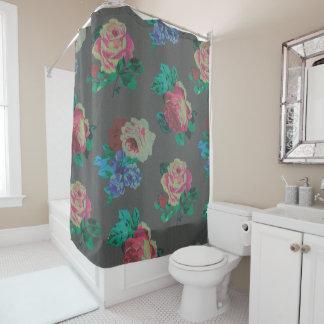 Vintager eleganter BlumenDuschvorhang Duschvorhang