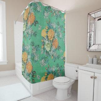 Vintager eleganter Rosen-Blumen-Duschvorhang Duschvorhang