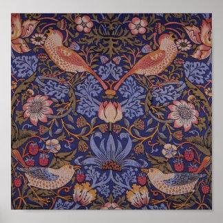 Vintager Erdbeerdieb Williams Morris Poster