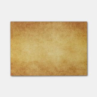 Vintager Ernte-Goldpergament-Antiken-Papier-freier Post-it Haftnotiz