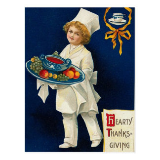 Vintager Erntedank-Gruß Postkarte