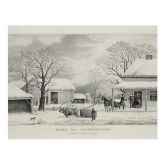 Vintager Erntedank Postkarte